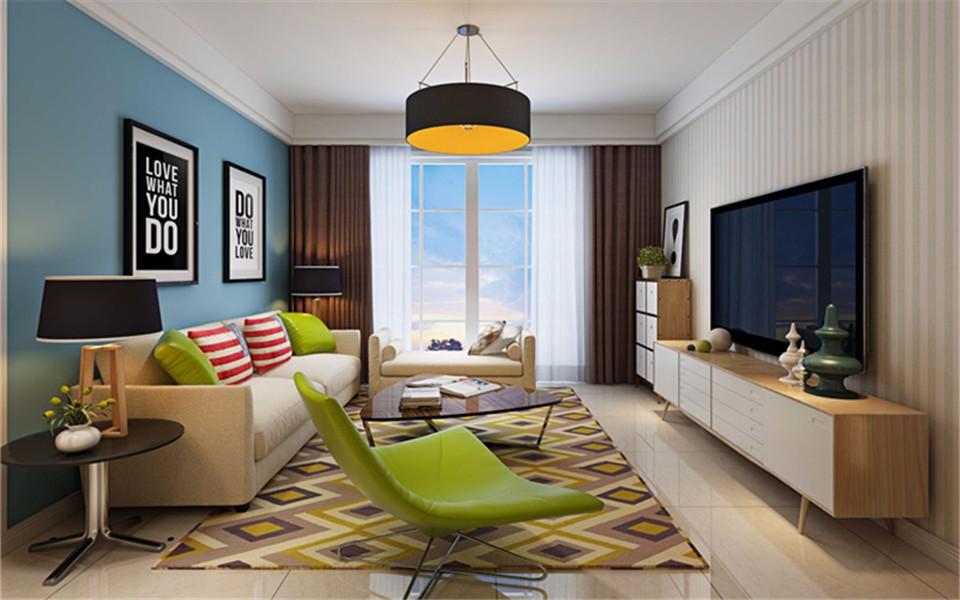 3室1卫2厅101平米现代简约风格