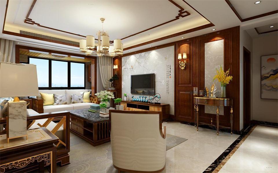 2020中式客厅装修设计 2020中式吊顶设计图片