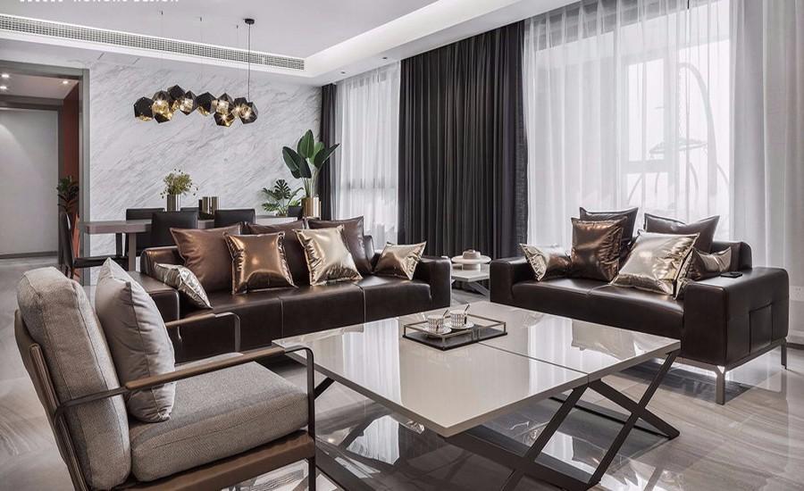 170平现代风格三居室装修效果图