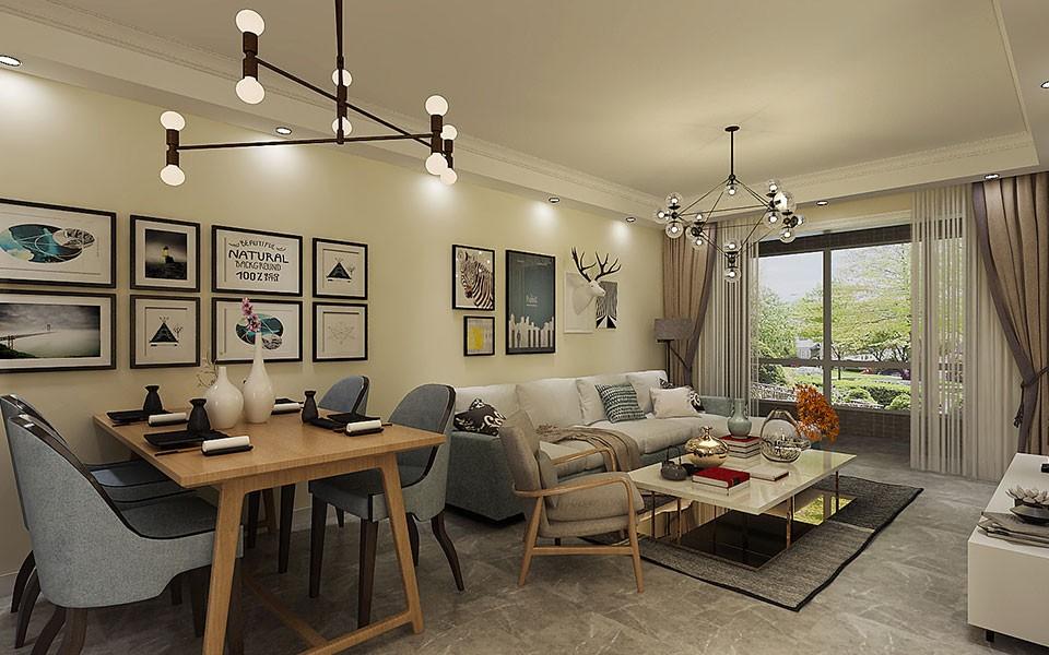 2室1卫2厅87平米现代简约风格