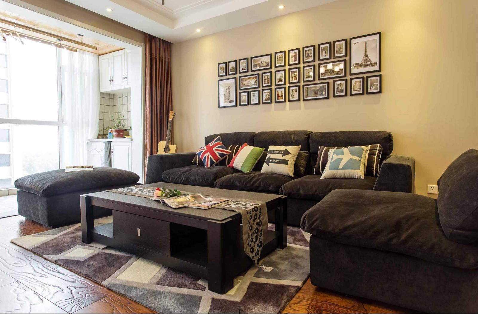 98平后现代风格两居室装修效果图