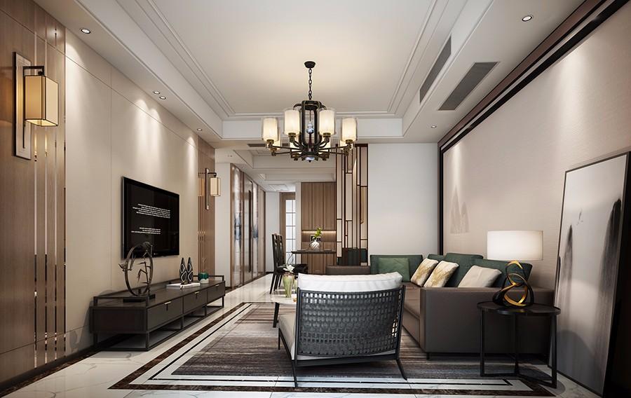 2021简中150平米效果图 2021简中三居室装修设计图片