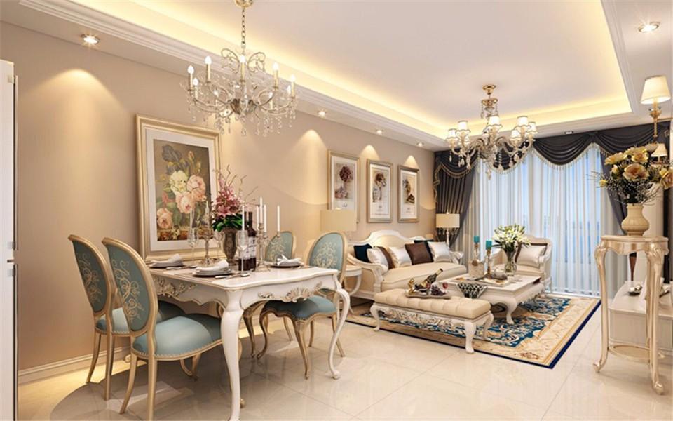 3室1卫2厅92平米欧式风格