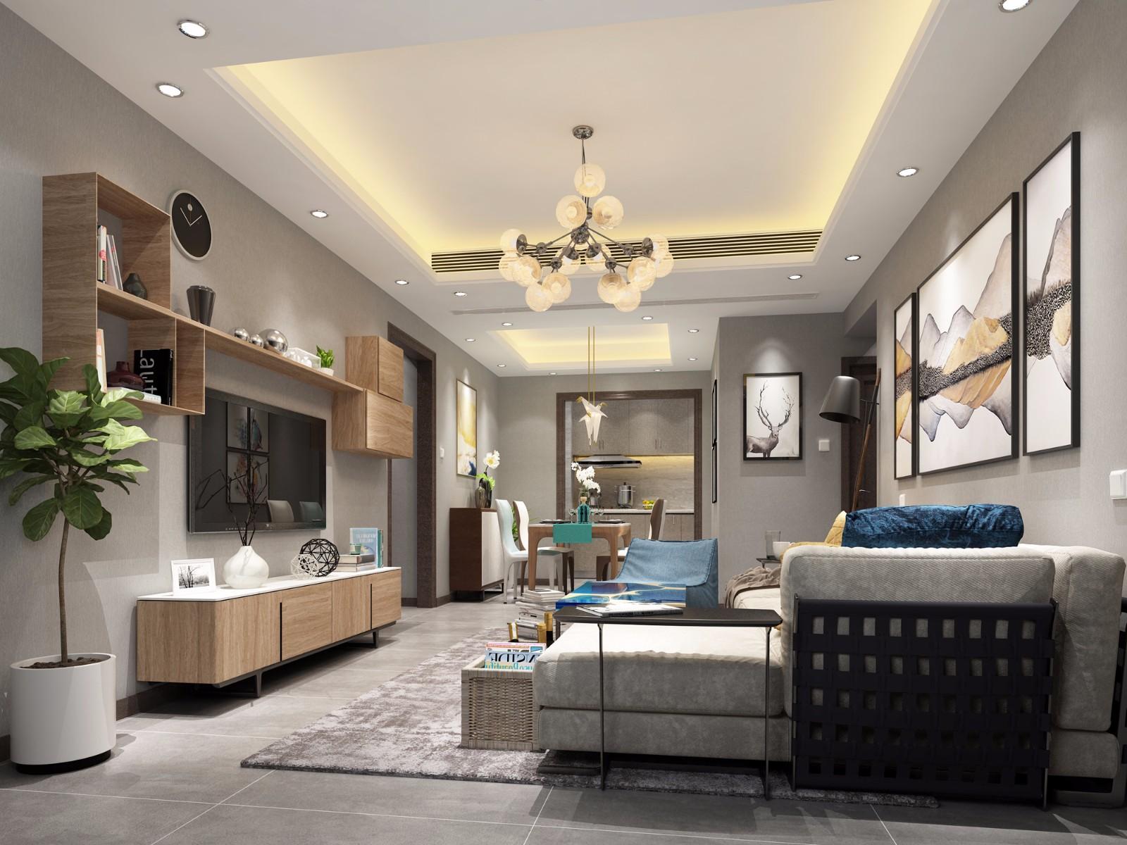 140平北欧风格四室两厅两卫装修效果图