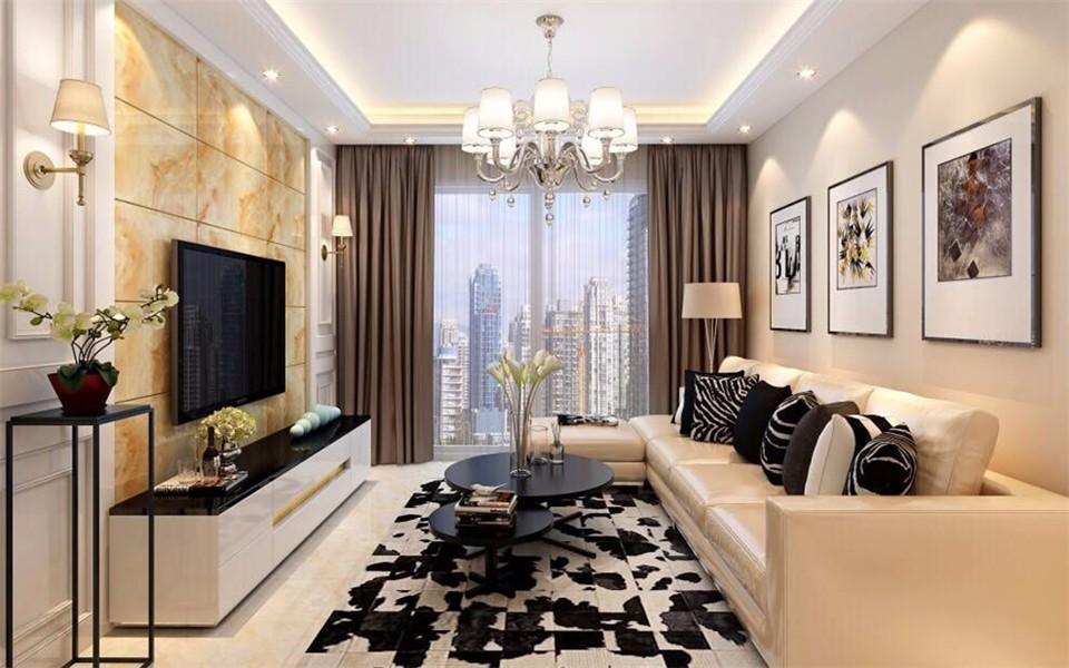3室1卫2厅98平米现代简约风格