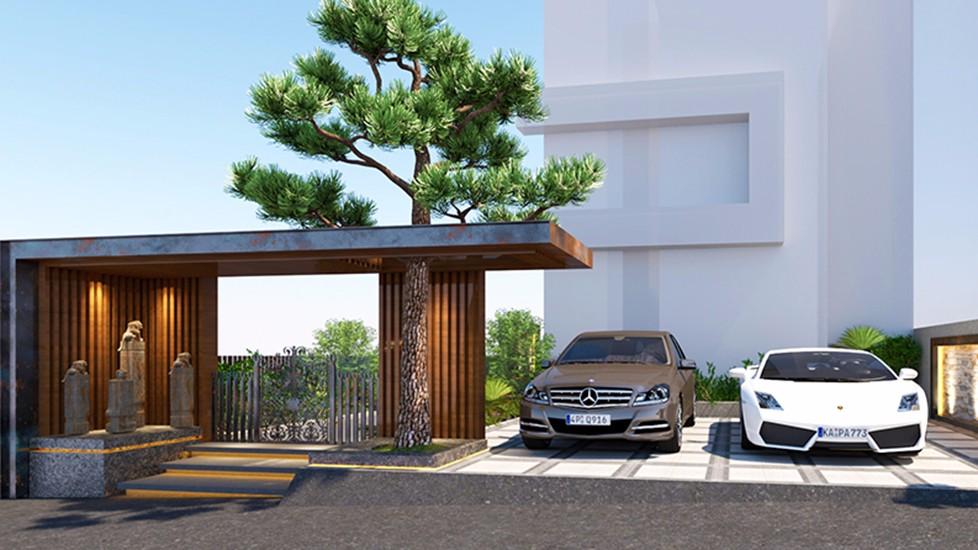 2020后現代車庫裝修圖片 2020后現代地磚裝飾設計