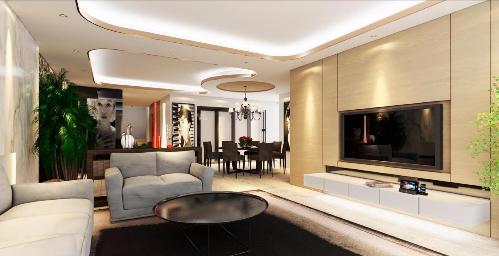 5室2卫2厅220平米现代简约风格