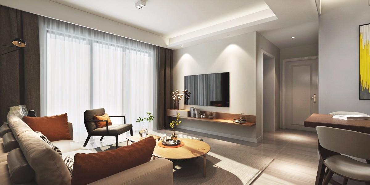 3室1卫2厅90平米北欧风格