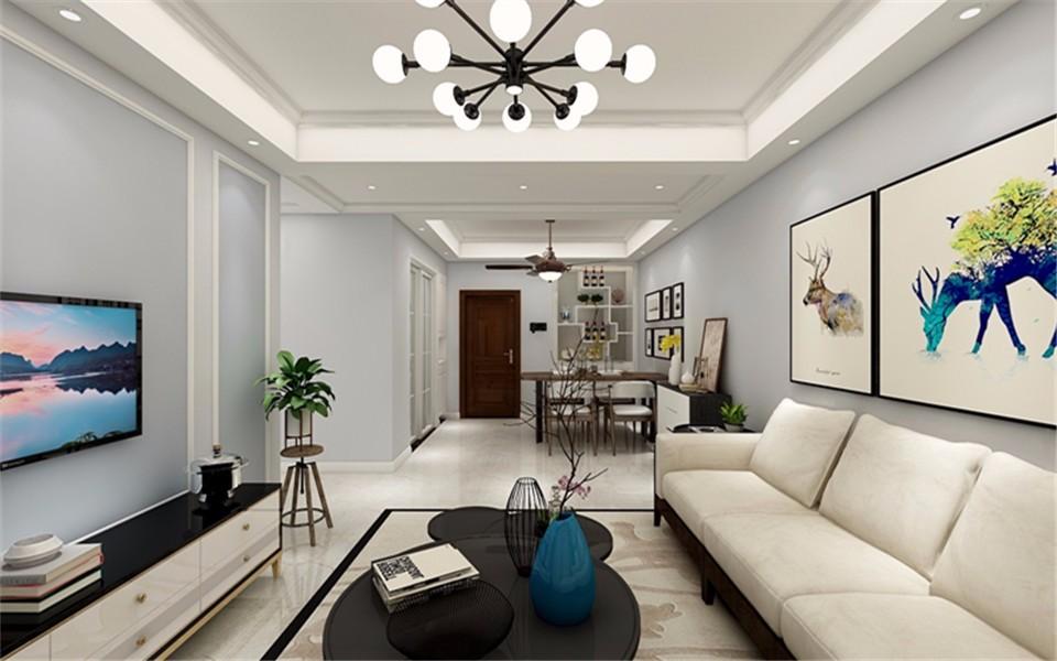 3室1卫2厅92平米现代简约风格