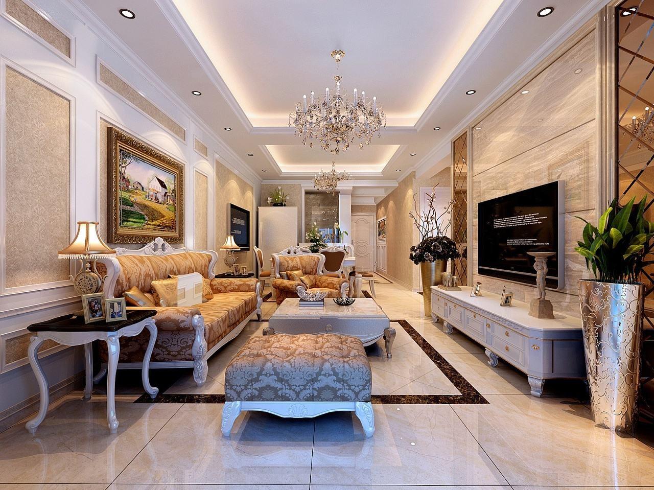 168平欧式风格楼房装修效果图