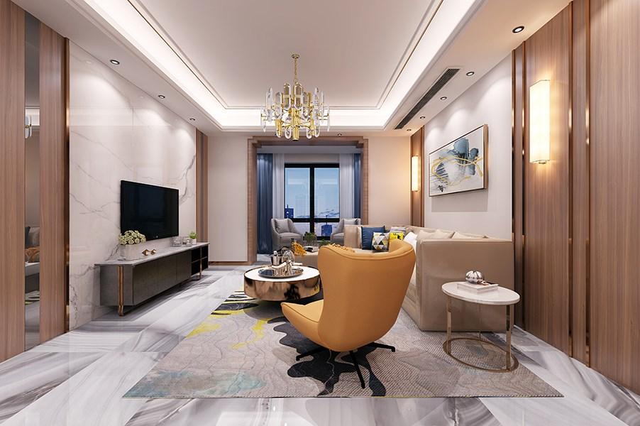 2019现代中式110平米装修设计 2019现代中式三居室装修设计图片