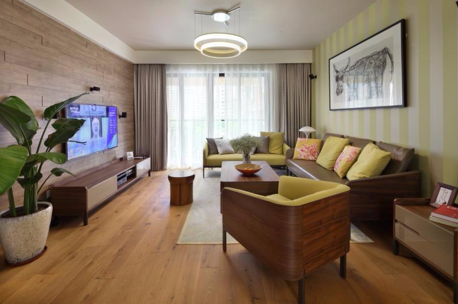 2020歐式田園110平米裝修設計 2020歐式田園三居室裝修設計圖片