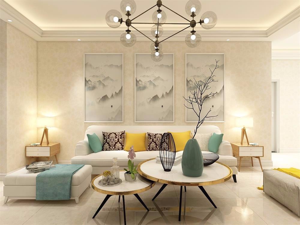 100平简约风格三室两厅装修效果图