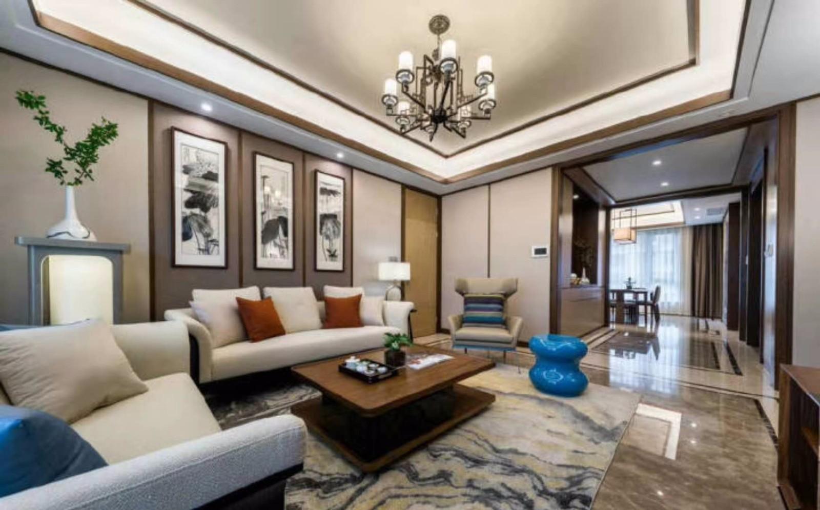 175平新中式风格三居室装修效果图