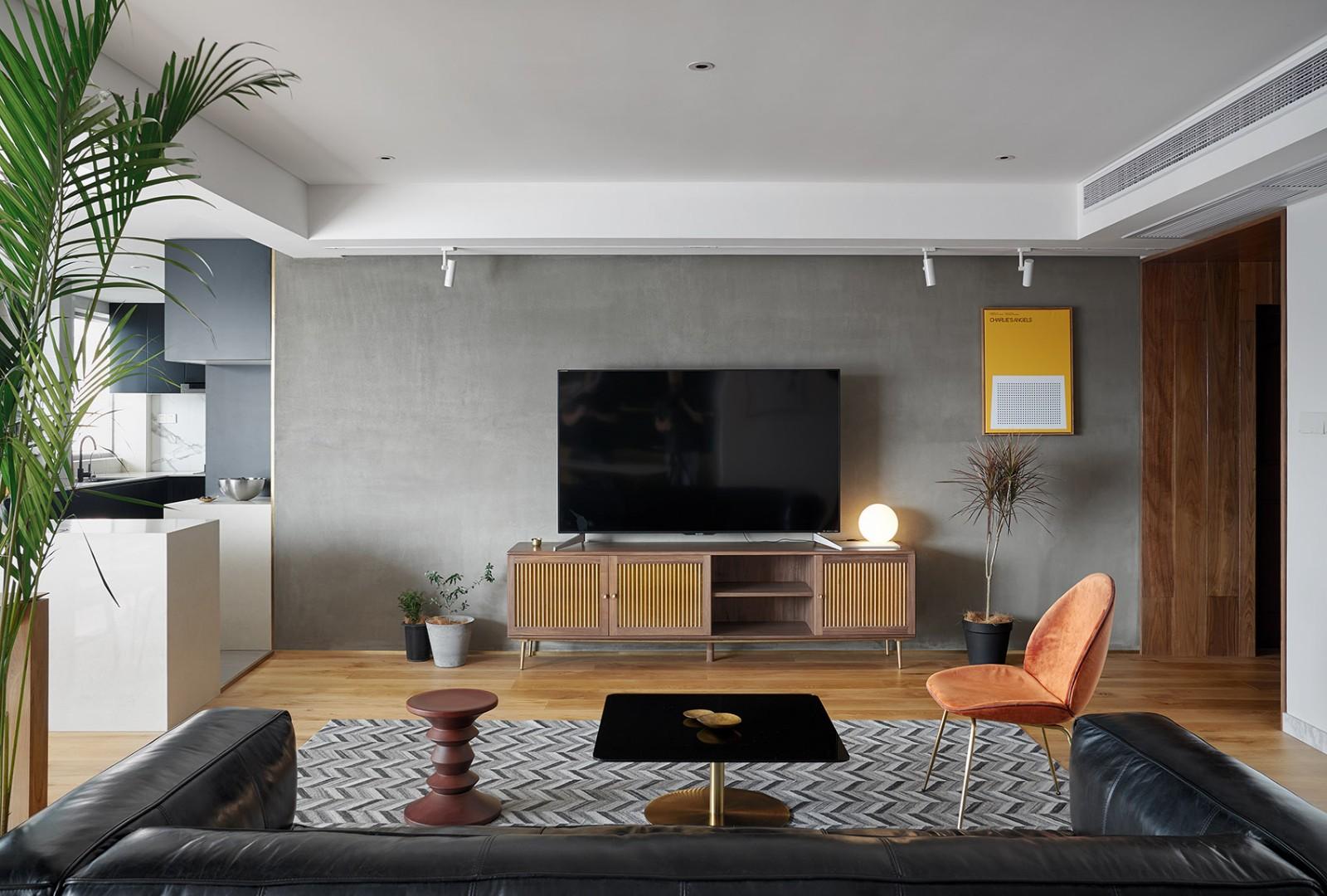 113平北欧风格两居室装修效果图