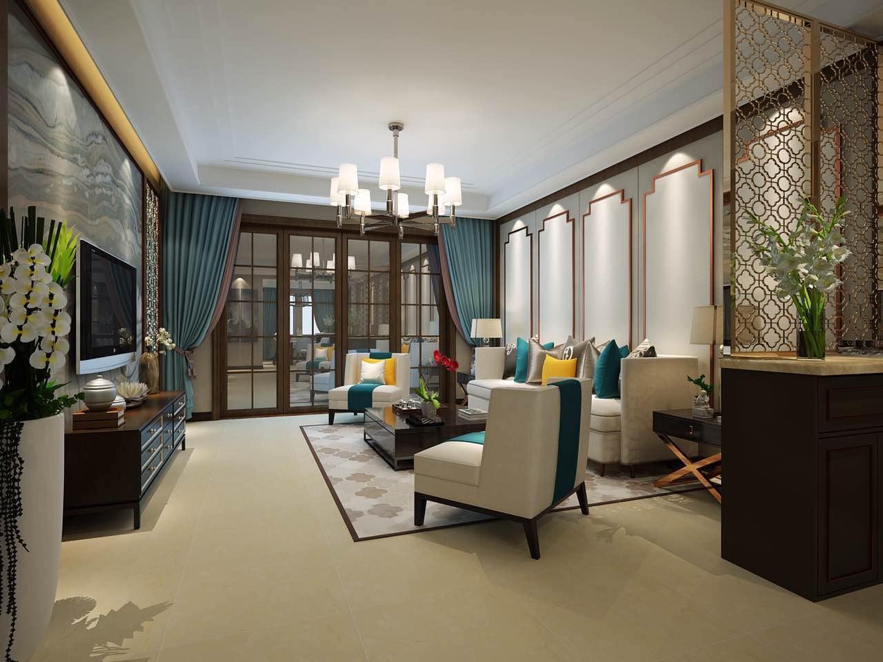 175平中式风格四居室装修效果图