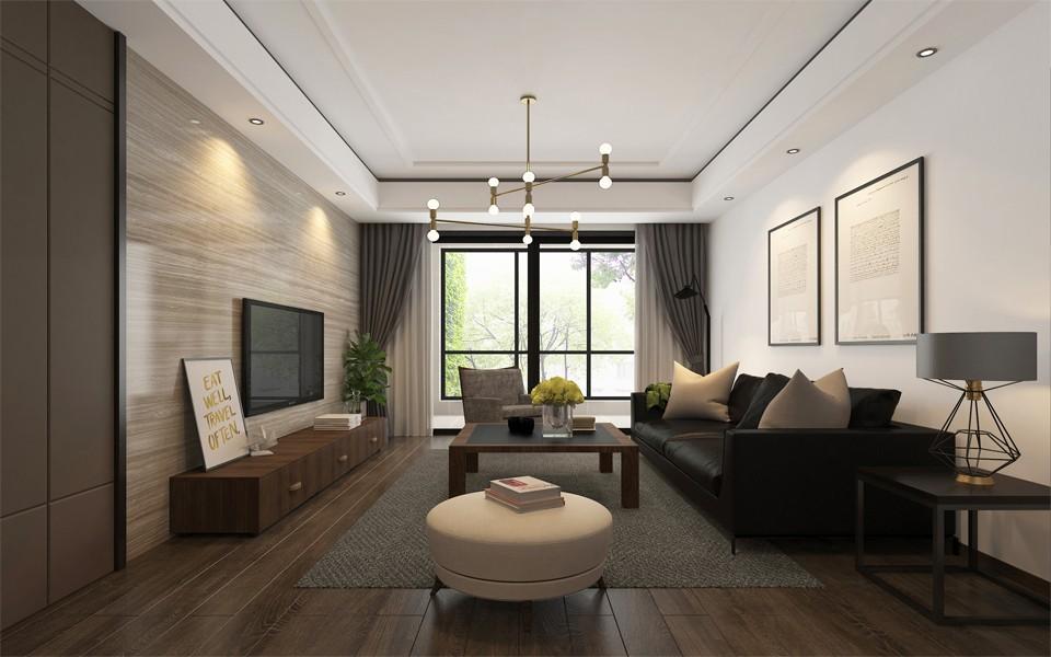 125平现代风格三居室装修效果图