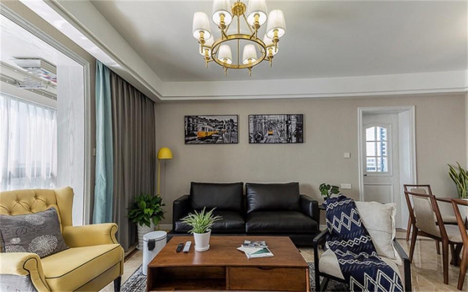 3室1卫1厅97平米美式风格