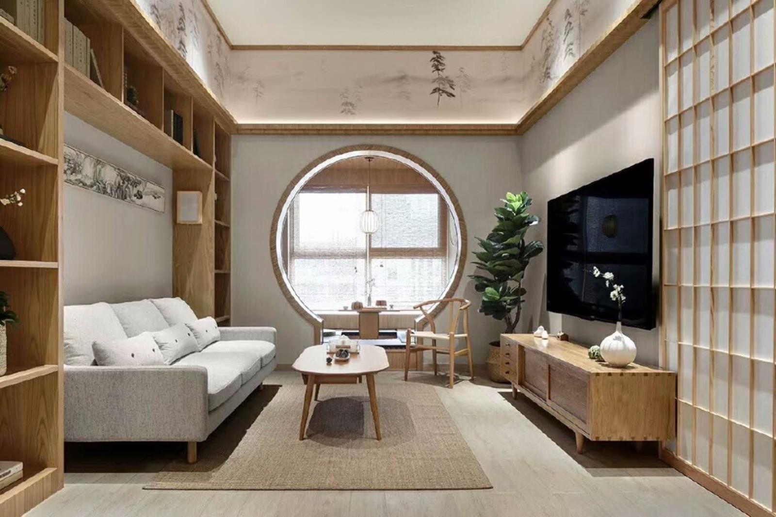 100平日式风格两居室装修效果图