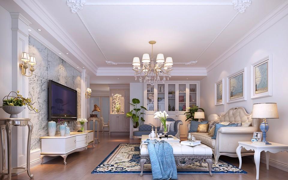 173平简欧风格三居室装修效果图