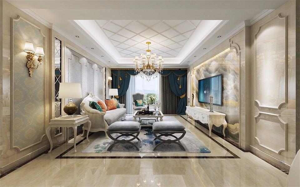 2020現代歐式150平米效果圖 2020現代歐式三居室裝修設計圖片