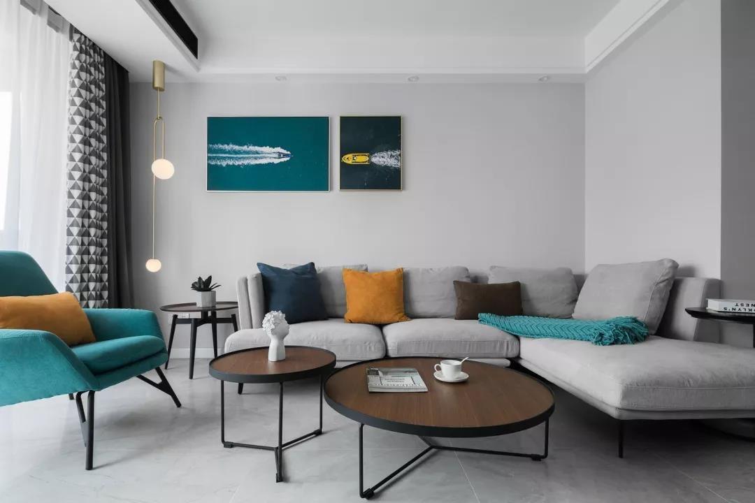 78平现代简约风格两居室装修效果图