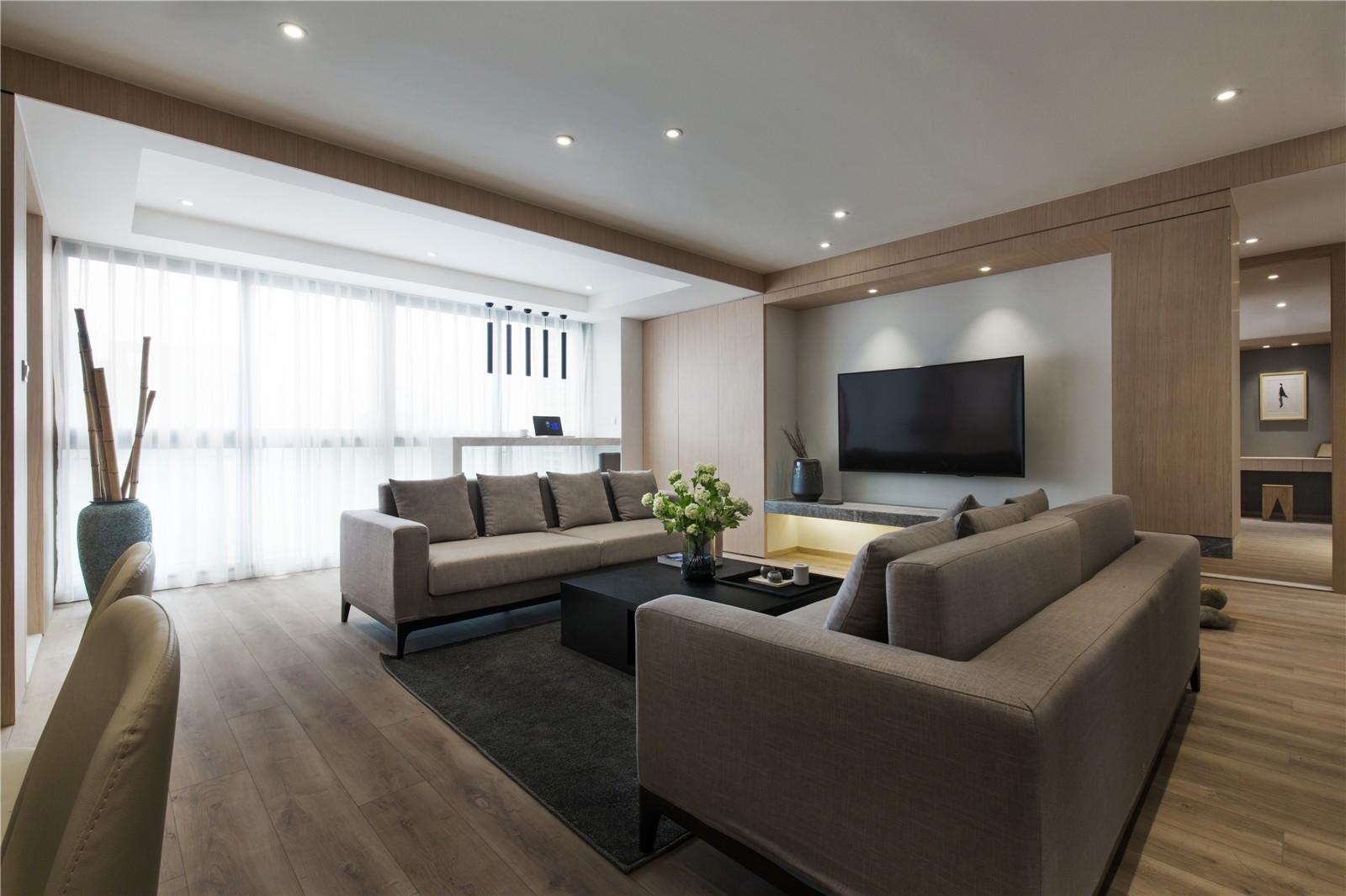 150平现代风格四居室装修效果图