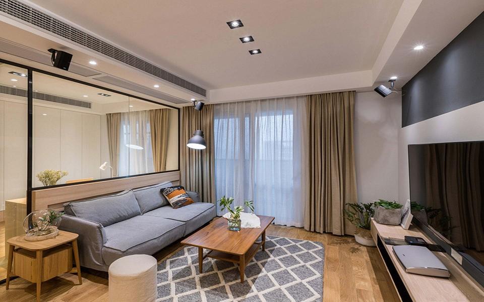 73平日式风格两居室装修效果图