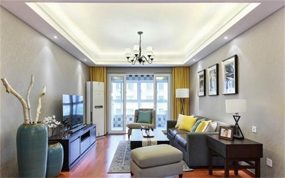 93平现代简约风格两居室装修效果图