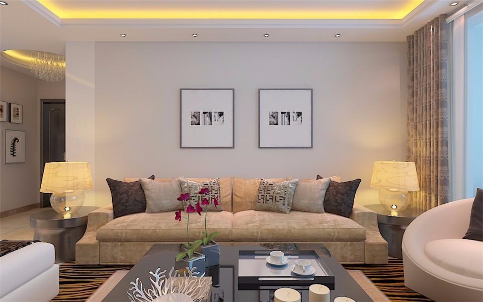 135平现代简约风格两居室装修效果图