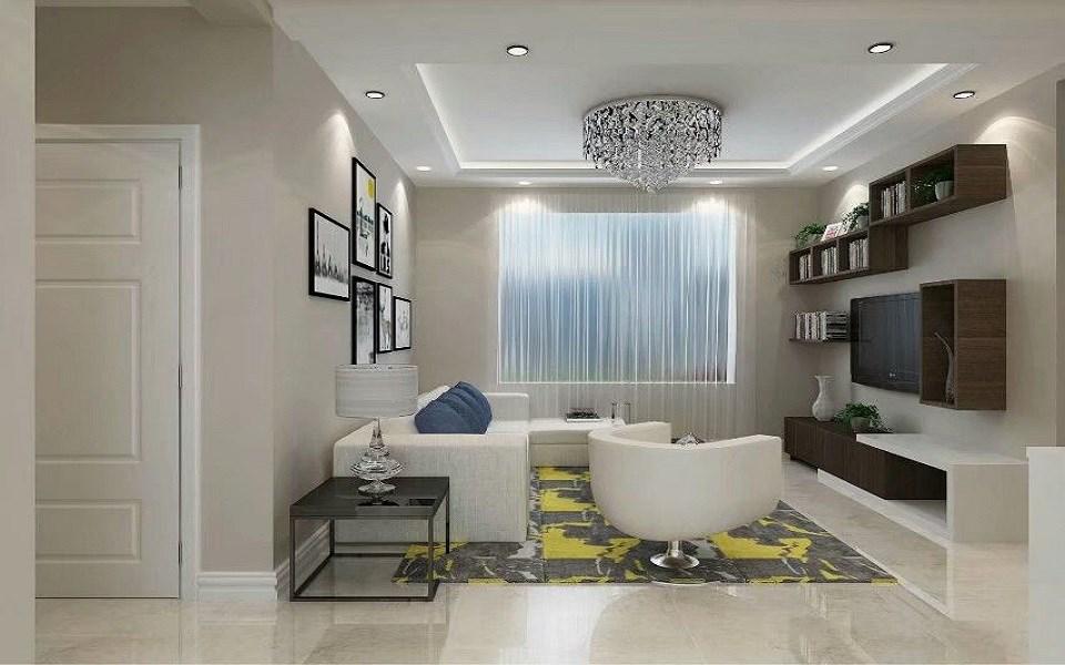 88平现代简约风格三居室装修效果图
