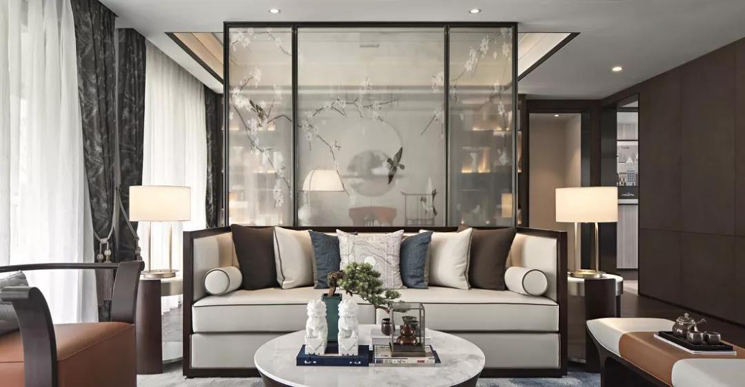 143平中式风格三居室装修效果图