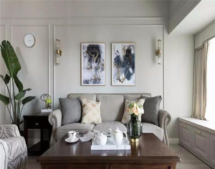 83平美式风格三居室装修效果图