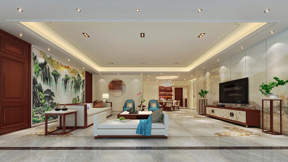 4室4卫2厅200平米中式风格