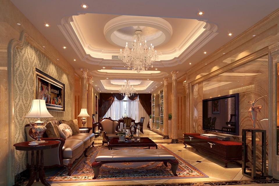 279平欧式风格四居室装修效果图