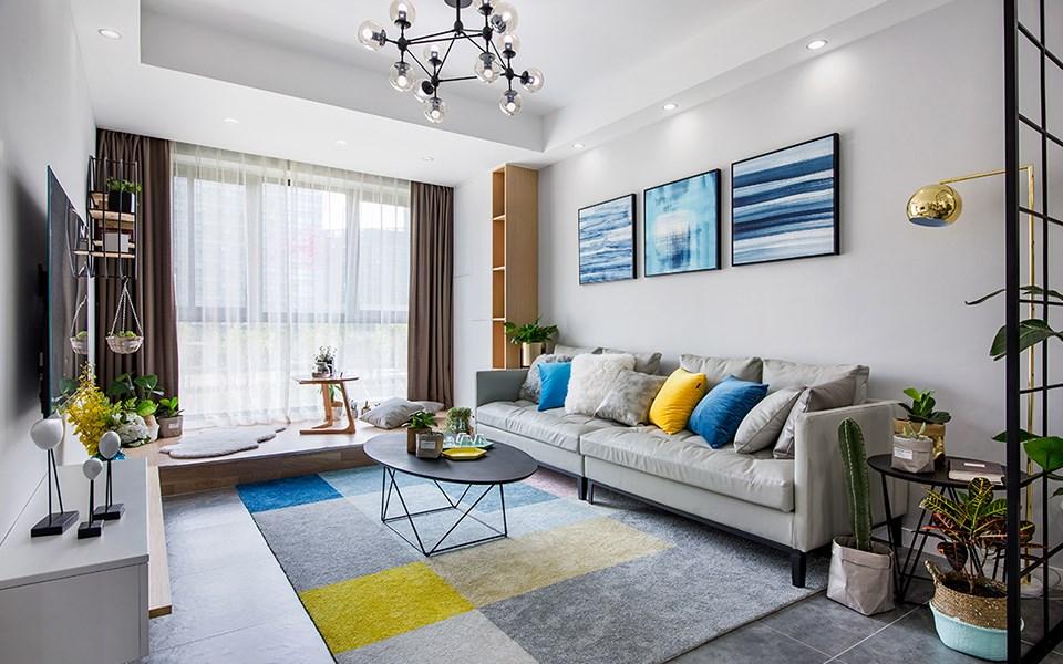 86平现代风格两居室装修效果图