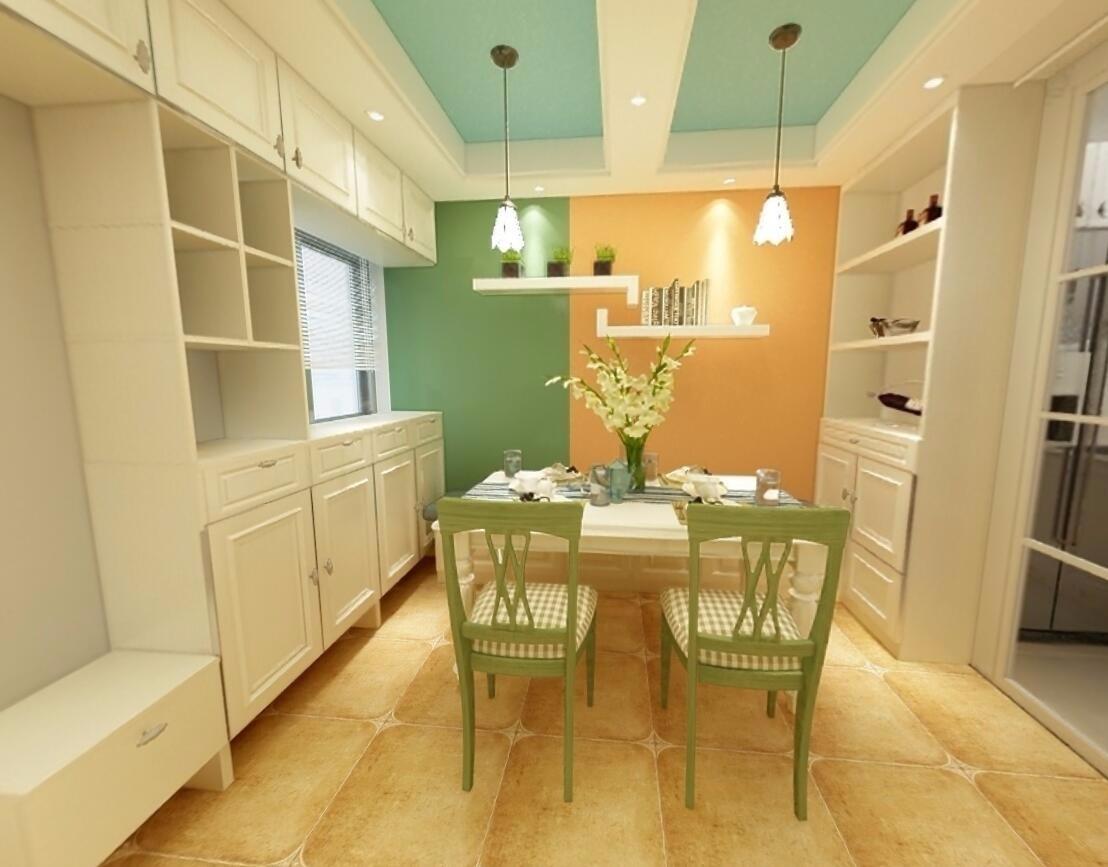 田園風格100平米三室兩廳新房裝修效果圖