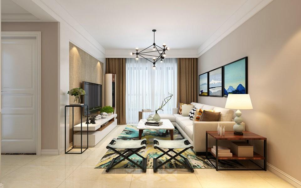 125平混搭风格四室两厅装修效果图
