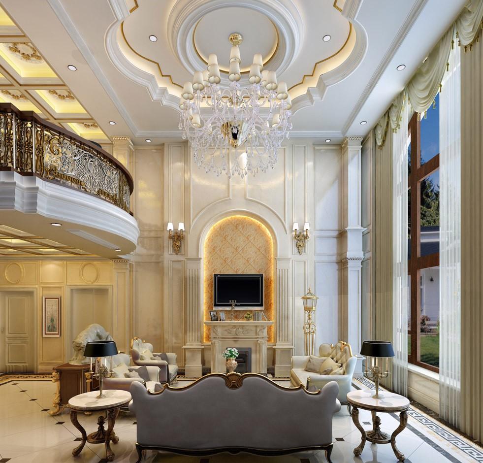 320平新古典风格别墅装修效果图