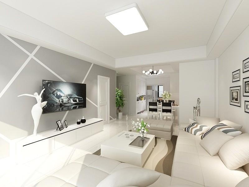 84平现代简约风格公寓装修效果图