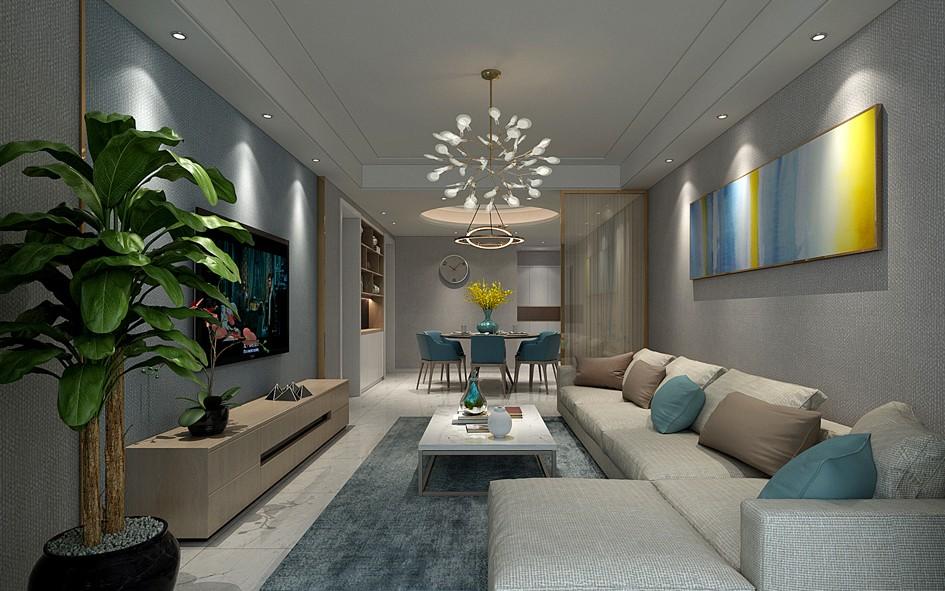 171平现代简约风格三居室装修效果图