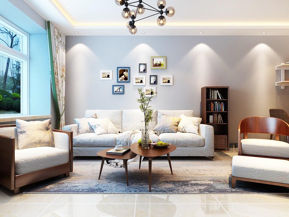 97平简约风格三居室装修效果图