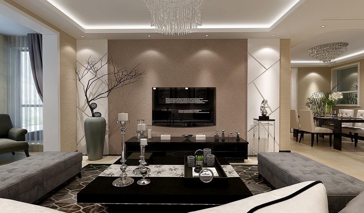 171平现代风格三居室装修效果图