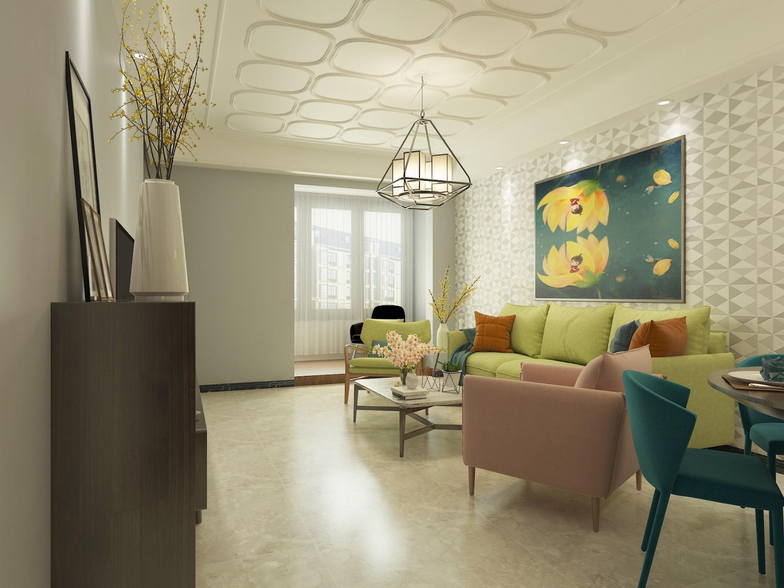 2020田园90平米装饰设计 2020田园三居室装修设计图片