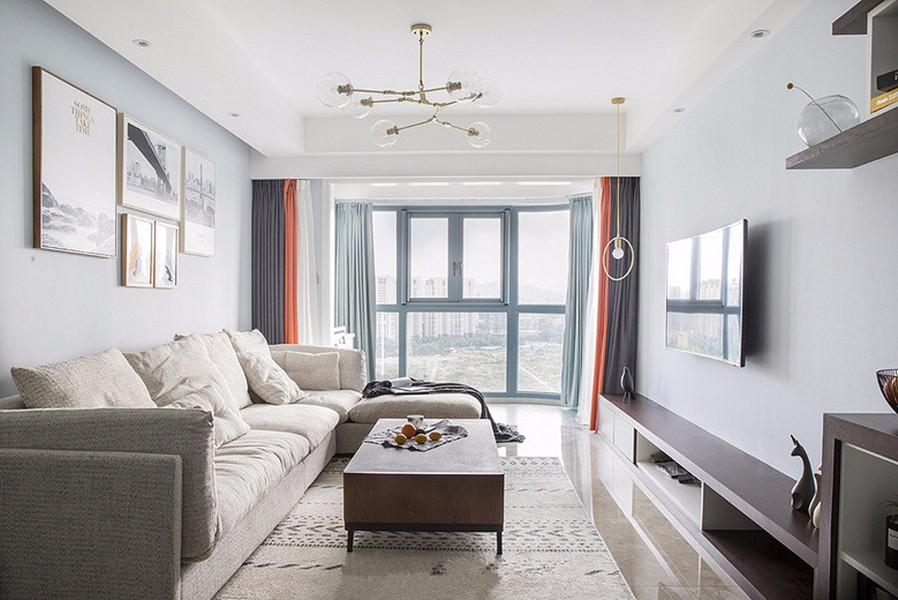 77平北欧风格两居室装修效果图