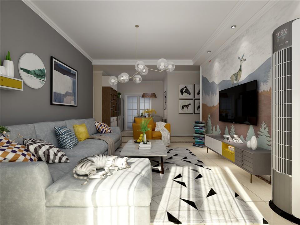 3室1卫2厅98平米北欧风格