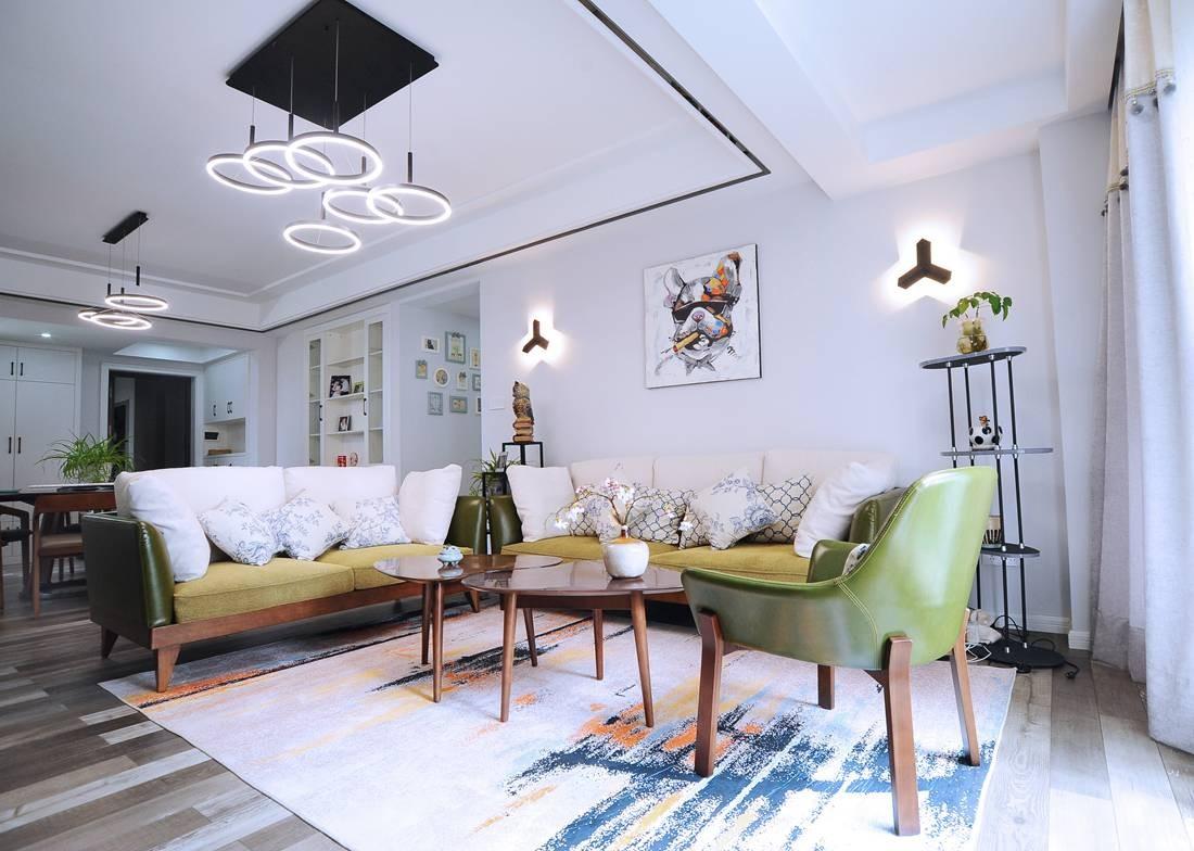 167平现代风格三居室装修效果图