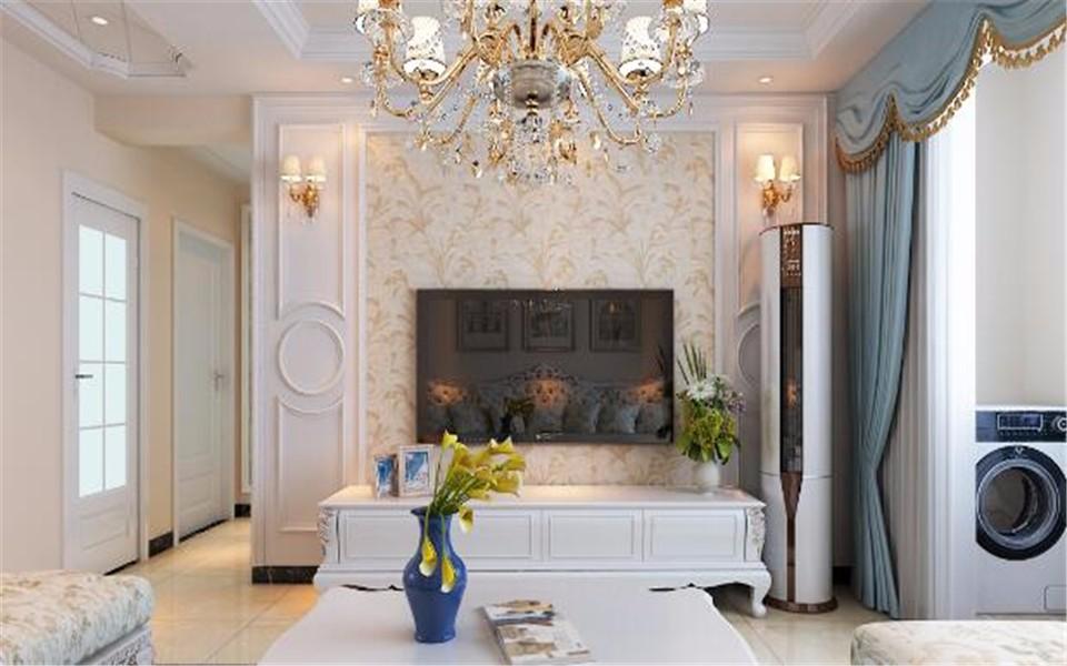 125平欧式风格三居室装修效果图