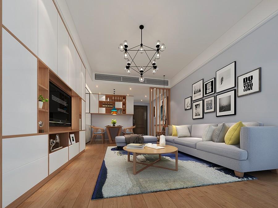 3室1卫2厅80平米简约风格