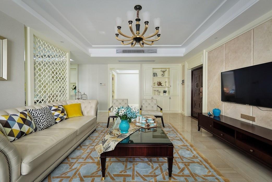 167平美式风格四居室装修效果图